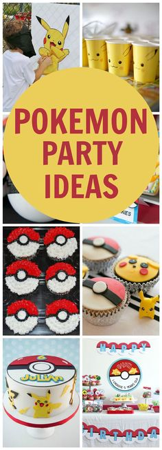 Creative Pokemon Birthday Party Ideas via Pretty My Party