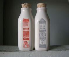 Julia Rothman illustration on milk bottles