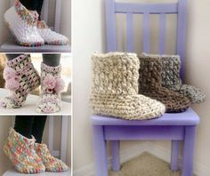 Chunky Crochet Slippers Best Free Patterns The WHOot
