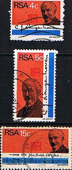 South Africa 1973 C J Langenhoven Set Fine Used SG 335 7 Scott 395 7 Condition Fine Used Only one post charge applied You've Got Mail, Afrikaans, Stamp Collecting, Postage Stamps, Ephemera, Childhood Memories, South Africa, Postcards, Coins
