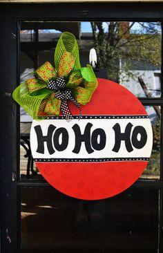 Christmas Door Hanger- Ho Ho Ho on Etsy, $45.00
