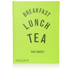 Phaidon Breakfast, Lunch and Tea (1,205 DOP) ❤ liked on Polyvore featuring home, kitchen & dining, cookbooks, books, fillers, words, accessories, text, illustrated cookbook and phaidon cookbooks