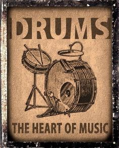 classic posters drums - Buscar con Google