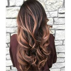 Gold Hair Color 38039 70 Flattering Balayage Hair Color Ideas for 2019 Dark Ombre Hair, Ombre Hair Color, Ombre Rose, Rose Gold Baylage, Red Ombre, Blonde Ombre, Blond Rose, Fall Hair Color For Brunettes, Rose Gold Balayage Brunettes