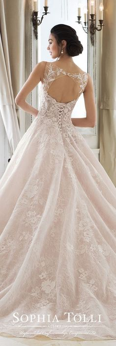 Tolli Wedding Dress Collection Spring 2018 -Sophia Tolli Wedding Dress Collection Spring 2018 - Whimsical wedding dress idea - a-line wedding dress with appliques. Find more inspo from Mon Cheri on WeddingWire! Bridal Collection, Dress Collection, Bridal Dresses, Wedding Gowns, Lace Wedding, Sofia Tolli Wedding Dress, Wedding Dress Corset, Trendy Wedding, Dresses For Big Bust