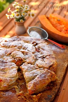 pumpkin pie,flat /bulgarian banitsa with pumpkin/ by http://evatoneva.com/