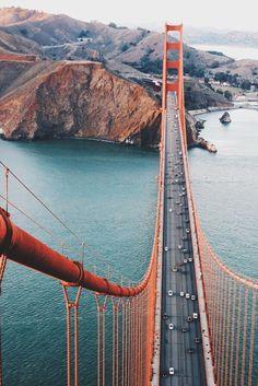 Golden Gate bridge near San Francisco, California