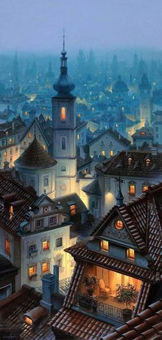 Prague - I want to live in the place with the balcony! I ❤️ Prague. Places Around The World, Oh The Places You'll Go, Places To Travel, Places To Visit, Around The Worlds, Beautiful World, Beautiful Places, Beautiful Family, Wonderful Places