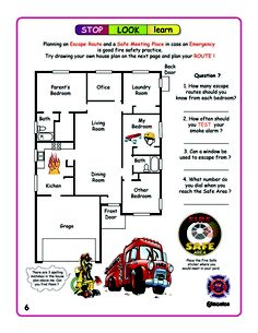 """Fire Prevention Week. Do you """"Have 2 Ways Out""""?     Everyone is encouraged to create a fire escape plan with 2 ways out and discuss it with the whole family."""