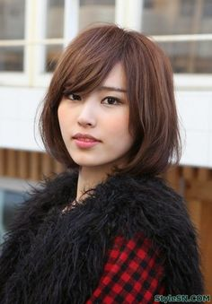 Japanese straight bob cut hair style -StyleSN-pin it by carden