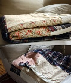 Multi-patch cotton quilt.