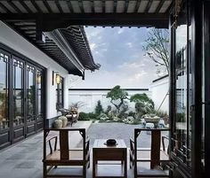 Chinese Architecture settled really consistent through the entire experience of the united states. Ancient Chinese Architecture, Asian Architecture, Interior Architecture, Futuristic Architecture, Interior Chino, Patio Interior, Interior Design, Chinese Courtyard, Chinese Garden