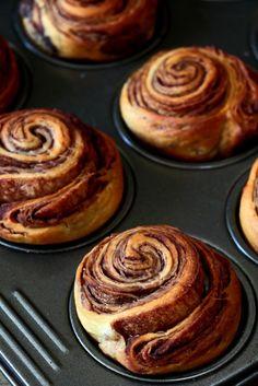 Vegan Chocolate Brioche Muffins, a great vegan recipe. Food photography | food styling | food porn