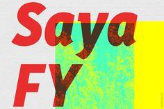 Saya FY Medium Italic by FONTYOU on Creative Market