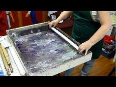 how to marble the angel wings pattern
