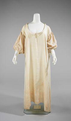 Chemise, circa 1822, linen, American