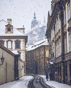 "1,907 Likes, 21 Comments - Prague / Prag / Praha / Прага (@wonderful_prague) on Instagram: ""It's snowing in Prague again! ❄️☃️♂️ . #wonderful_prague for a feature ✨"""