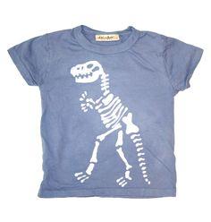 Dino Bones tee - handmade batik