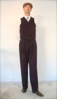 1940's mens pants 1930's high waisted swing door SunnySideCouture