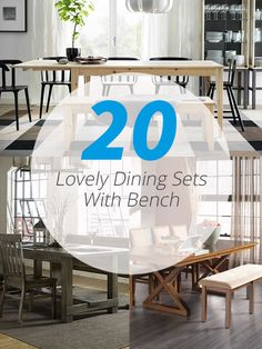 20 Lovely Dining Sets With Bench