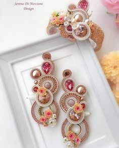 "Serena Di Mercione Jewelry on Instagram: """"FLORA"" Collection - summer edition #serenadimercione #serenadimercionedesign #serenadimercionejewelry #floracollection #flower #flowers…"" Fabric Jewelry, Boho Jewelry, Jewelery, Jewelry Design, Denim Earrings, Black Earrings, Shibori, Soutache Necklace, Plastic Canvas Tissue Boxes"