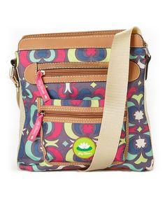 Tan & Pink Wavy Lei Bella Crossbody Bag #zulily #zulilyfinds