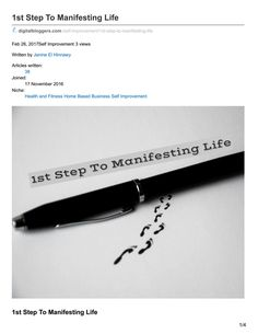Step On Manifesting Life Article Writing, Home Based Business, Life