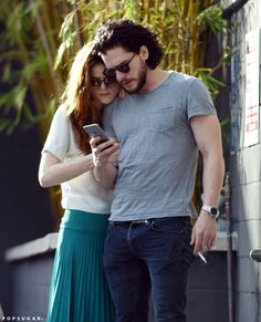 Kit Harington with Rose Leslie.