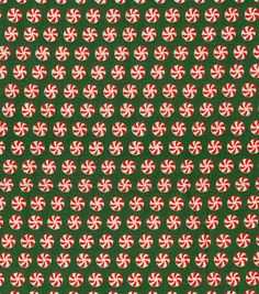 """Keepsake Calico™ Holiday Cotton Fabric 43""""-Ditsy Peppermints"""
