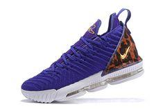"best service fffdf b7134 Nike LeBron 16 ""King Court Purple"" Court Purple Metallic Gold AO2588-500"