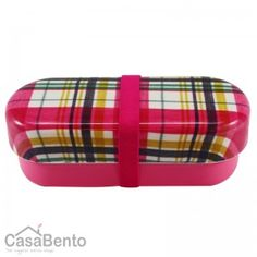 To go with my tartan chopsticks [yes, I really have some. :] Pink Tartan Long Bento Box