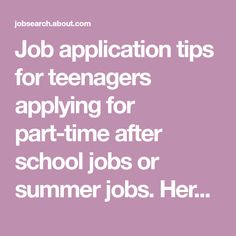 job search for teens