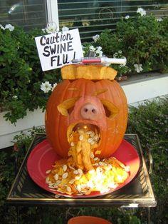 Decorated pumpkin pig,
