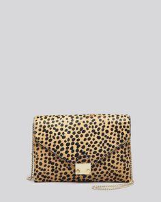 Loeffler Randall Clutch - Lock Cheetah Haircalf | Bloomingdale's