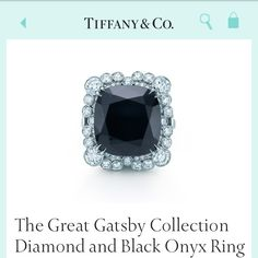 My dream engagement ring 8+ carats $20,000 IT.WILL.BE.MINE. I've always wanted a black onyx engagement ring with a white diamond halo.