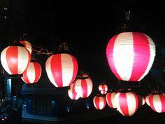 Hong Kong lanterns at night, Feb 2012