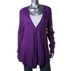 Lauren Ralph Lauren Sweater Long-Sleeve Cable-Knit Oversized Cardigan Size L   #LaurenRalphLauren #Cardigan