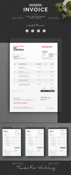 How To Make A Invoice On Word Resume Word Template  Cv Template With Super Clean And Modern Look .