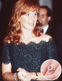 The Duchess of York:  After Prince Andrew proposed to Sarah Ferguson with a ruby from Garrard Jewelers, it set off demand for ruby engagement rings in England. It is said he chose the unusual color because it matched his betrothed's fiery red hair.