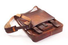 Large shoulder bag DiSquared 101  #leather #handmade #romania