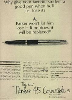 1964 Parker 45 Convertible Pen ad (# 879)