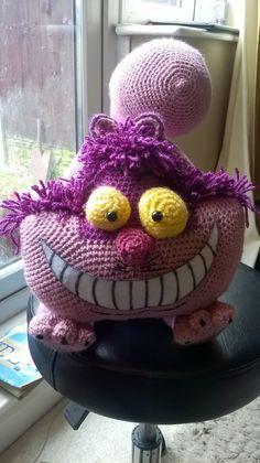 Cheshire Cat! Original. Amigurumi. Crochet. HappyStitchin'.