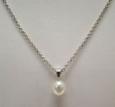 HONORA-925-STERLING-SILVER-WHITE-FRESHWATER-CULTURED-PEARL-PENDANT-7mm-NECKLACE