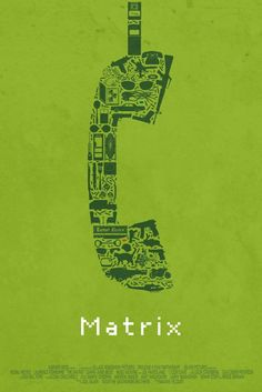 Matrix (alternative object movie posters) | By: Maxime Pecourt