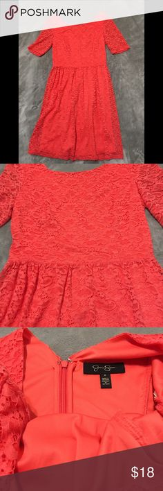 Dress Jessica Simpson cute midi dress. Great condition, size 6. The color of the dress is more of an orange.Smoke free home. Jessica Simpson Dresses Midi