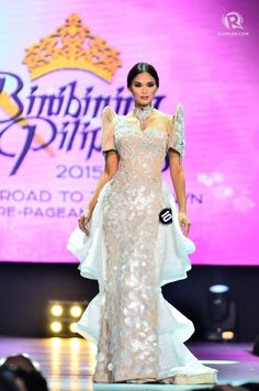 IN PHOTOS: Bb Pilipinas 2015 national costume competition Maria Clara Dress Philippines, Philippines Dress, Philippines Fashion, Modern Filipiniana Dress, Beauty Pageant, Traditional Dresses, Formal Dresses, Wedding Dresses, Dress Outfits