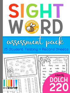 FREE Sight Word Assessment Pack!  Free for a limited time, This fun pack is filled with 15 pages you can use to keep track of which sight words your student knows and which they still need to learn!  Simple and FUN!! https://kindergartenmom.com/sight-word-assessment/?utm_campaign=coschedule&utm_source=pinterest&utm_medium=Preschool%20Kindergarten%20Mom