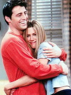 Matt LeBlanc and Jennifer Aniston as Joey and Rachel from 'Friends' (1994)