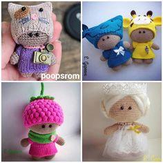 zsutta: Ingyenes mini baba leírás magyarul includes pattern, not english Crochet Dolls, Knit Crochet, Crochet Hats, Big Head Baby, Crochet Videos, Amigurumi Toys, Cute Dolls, Minion, Cross Stitch Embroidery