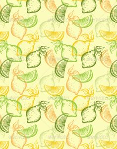 Citrus Seamless Pattern — Vector EPS #decorative #dessert • Available here → https://graphicriver.net/item/citrus-seamless-pattern/3020371?ref=pxcr
